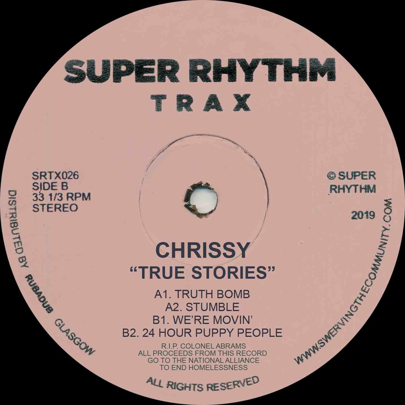 "Chrissy/TRUE STORIES 12"""
