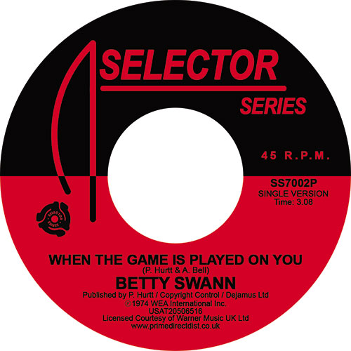Bettye Swann/WHEN THE GAME IS... 7""