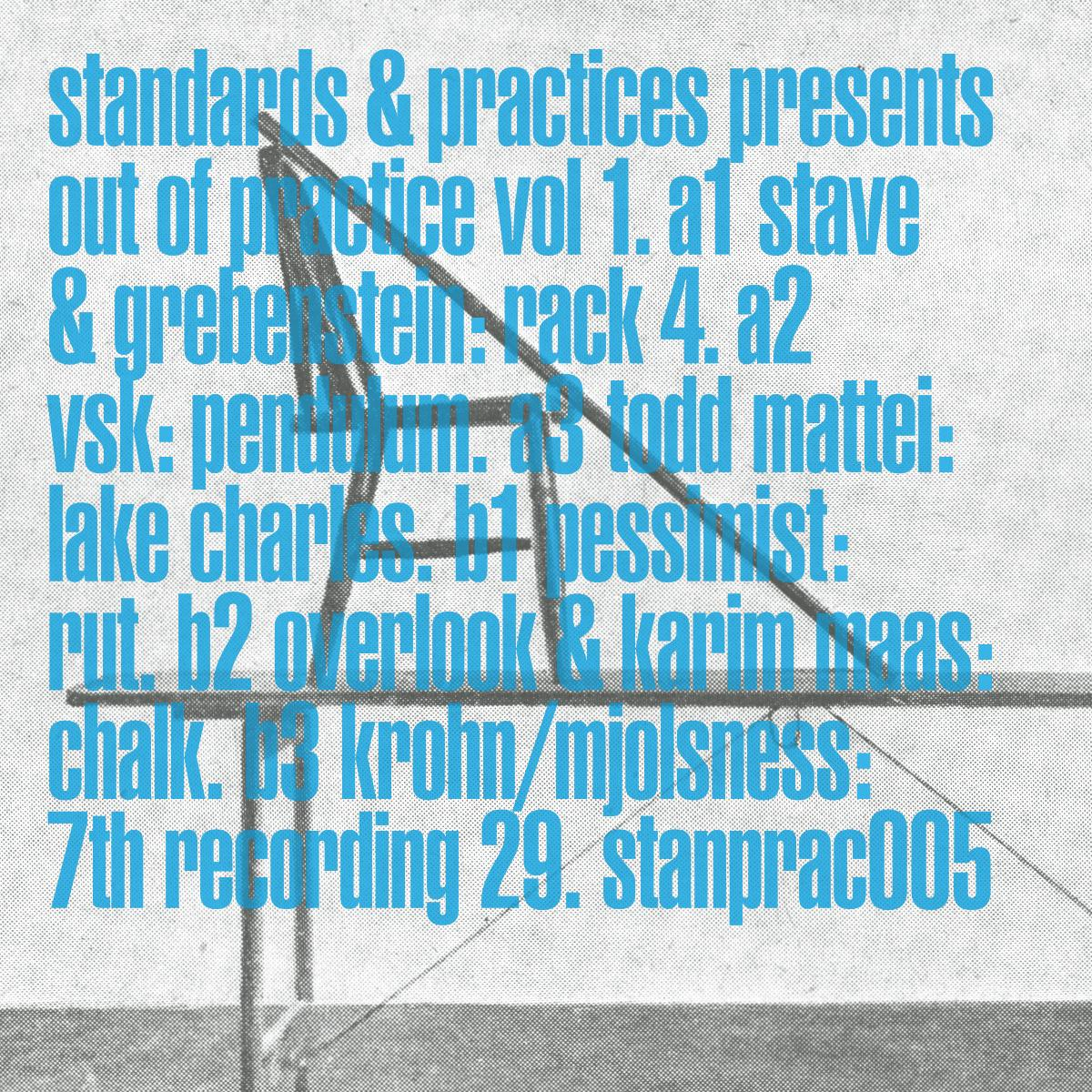 Various/OUT OF PRACTICE VOL. 1 EP 12""