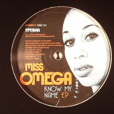 """Miss Omega/KNOW MY NAME-DUBSTEP RX'S 12"""""""