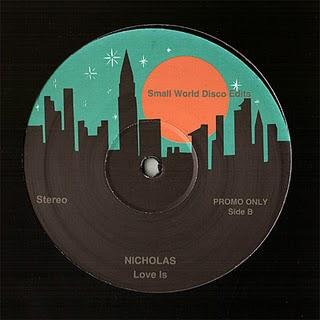 "Small World Disco/EDITS #7 NICHOLAS 12"""