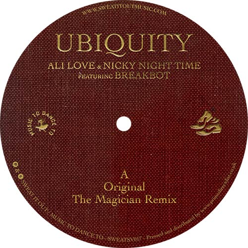 "Ali Love & Nicky Night Time/UBIQUITY 12"""