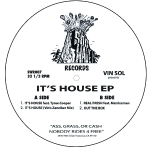 Vin Sol & Tyree Cooper/IT'S HOUSE 12""