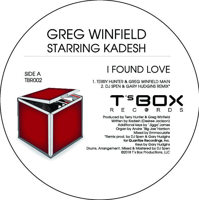 "Greg Winfield ft Kadesh/I FOUND LOVE 12"""