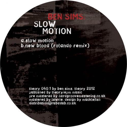 "Ben Sims/SLOW MOTION 12"""
