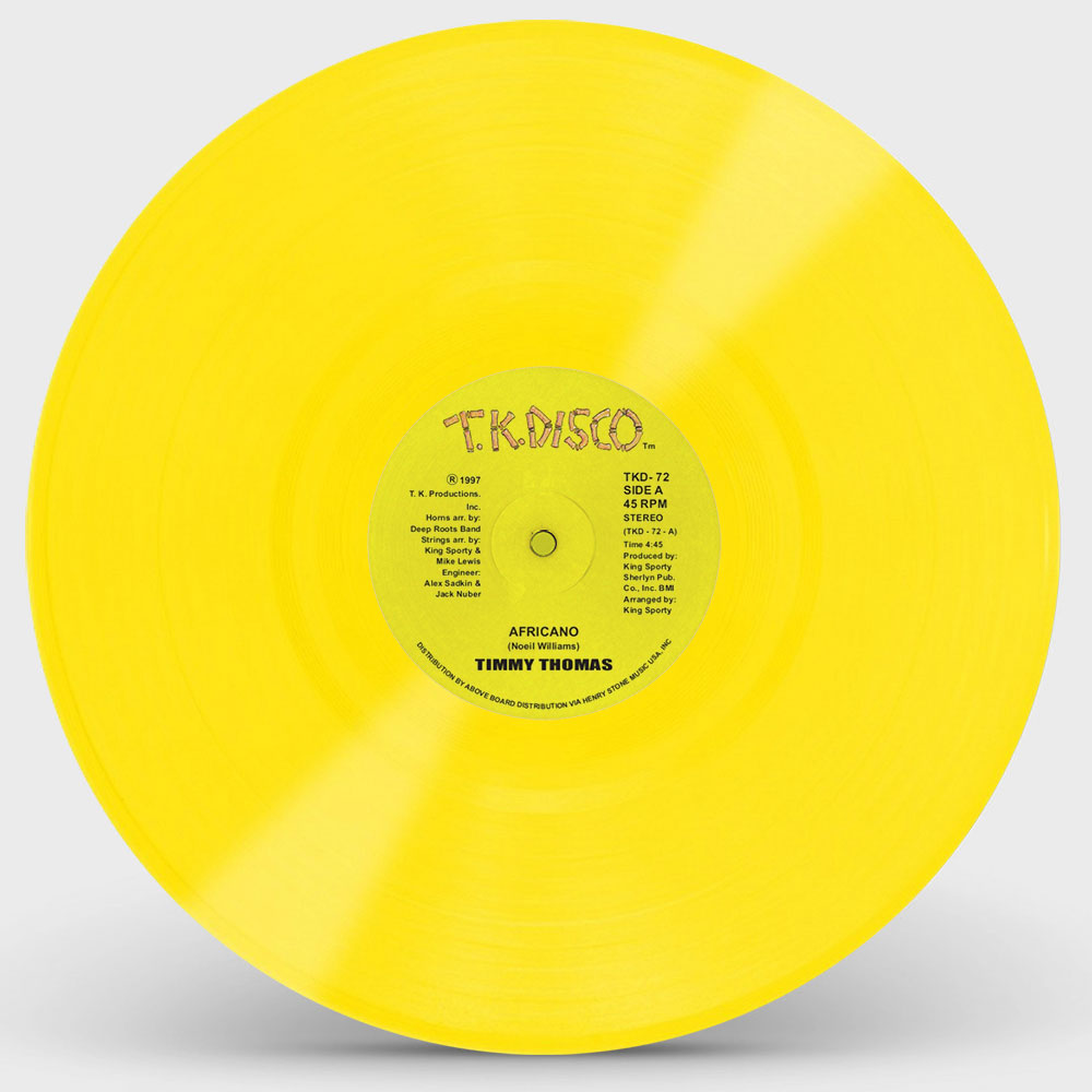 "Timmy Thomas/AFRICANO (YELLOW) 12"""