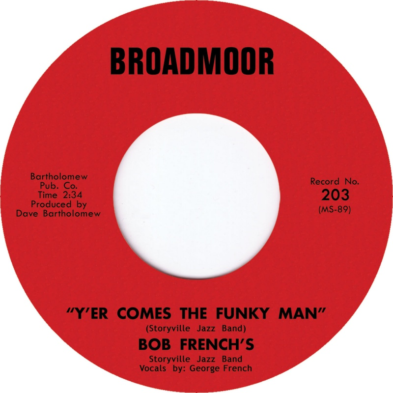 Bob French/Y'ER COMES THE FUNKY MAN 7""