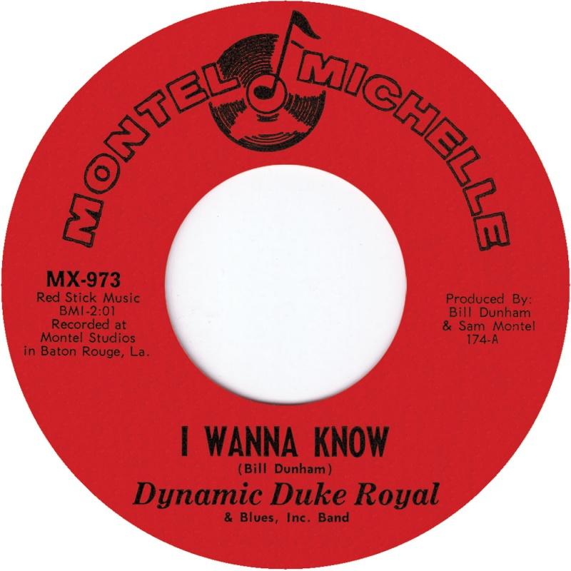 "Dynamic Duke Royal/I WANNA KNOW 7"""
