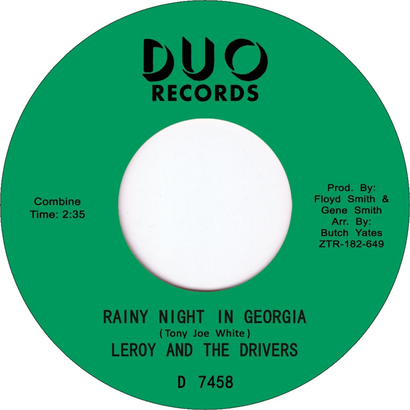 """Leroy & The Drivers/RAINY NIGHT IN 7"""""""