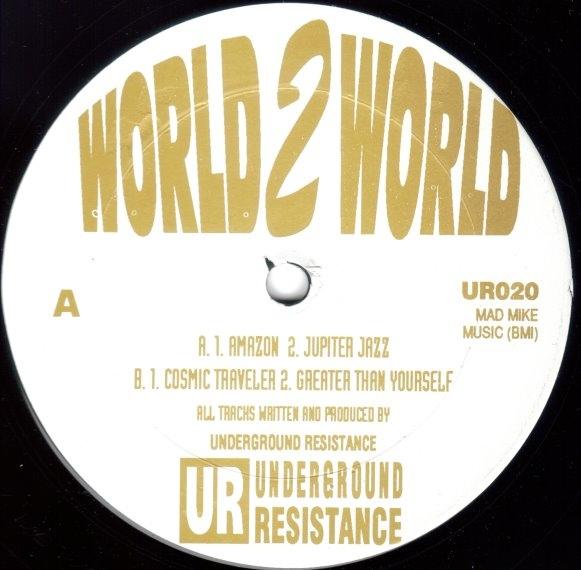 """Underground Resistance/WORLD 2 WORLD 12"""""""