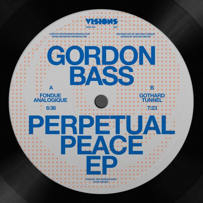 "Gordon Bass/PERPETUAL PEACE EP 12"""