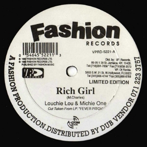 """Louchie Lou & Michie One/RICH GIRL 12"""""""