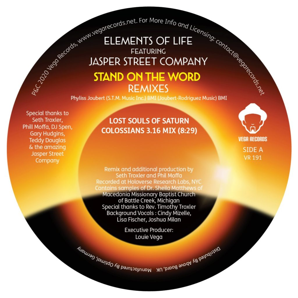"""Elements Of Life/STAND ON... REMIXES 12"""""""