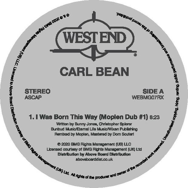 """Carl Bean/I WAS BORN.. (MOPLEN DUBS) 12"""""""