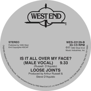 Loose Joints/IS IT ALL OVER MY FACE? 12""