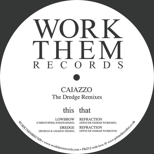 """Caiazzo/THE DREDGE REMIXES 12"""""""