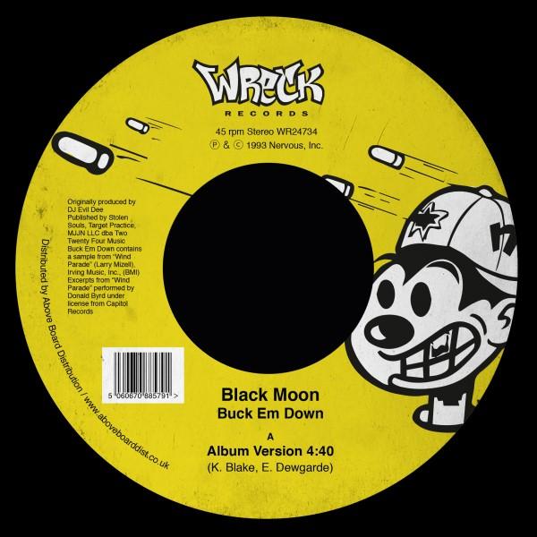 "Black Moon/BUCK EM DOWN 7"""