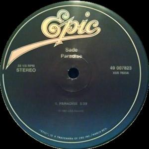 "Sade/PARADISE REISSUE 12"""