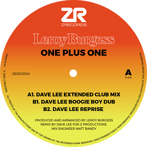 Leroy Burgess/ONE PLUS ONE 12""